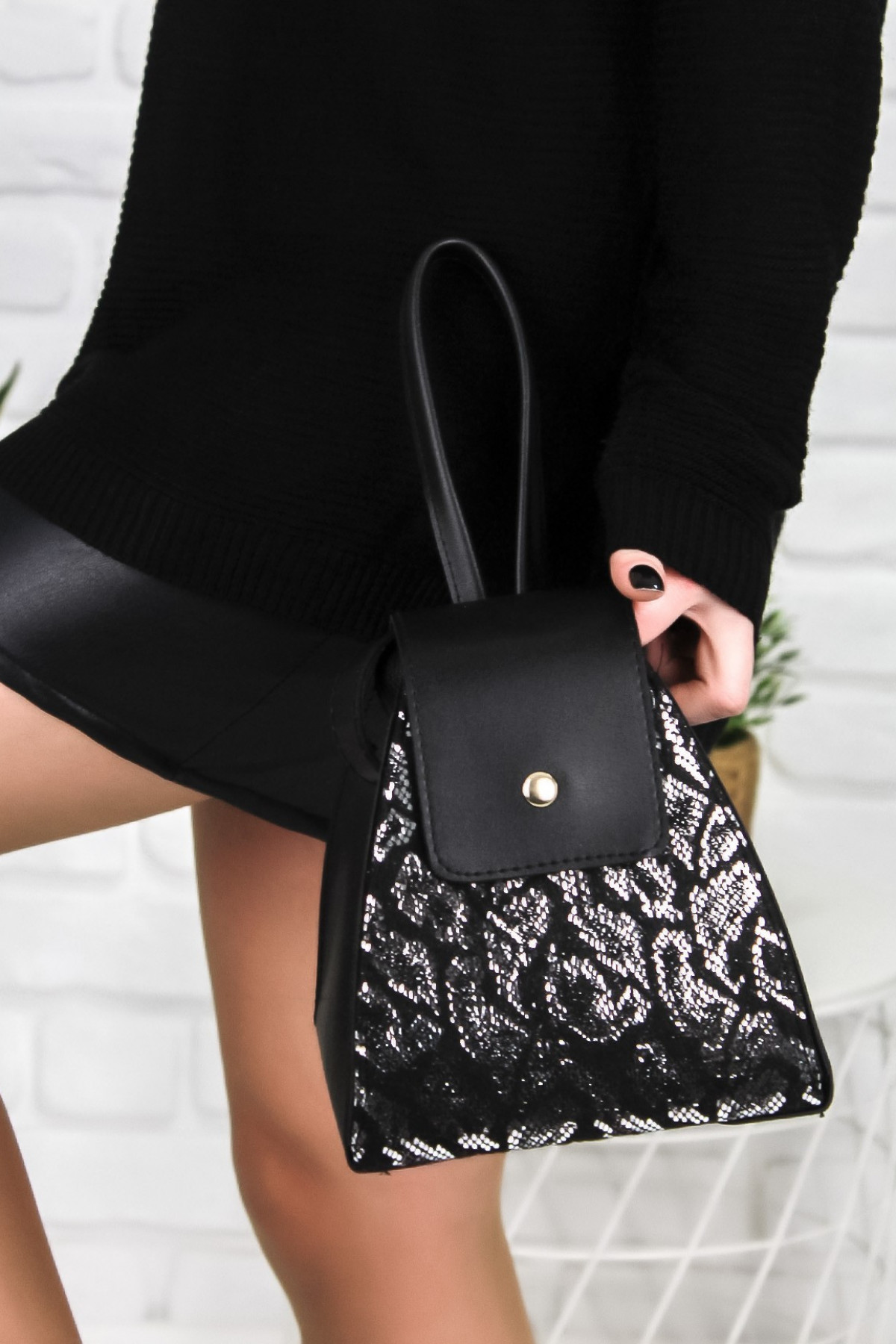 Argia Siyah Cilt Çanta