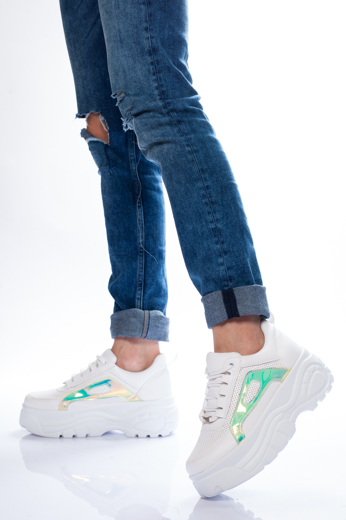 Beyaz Buffalo Kadın Spor Ayakkabı