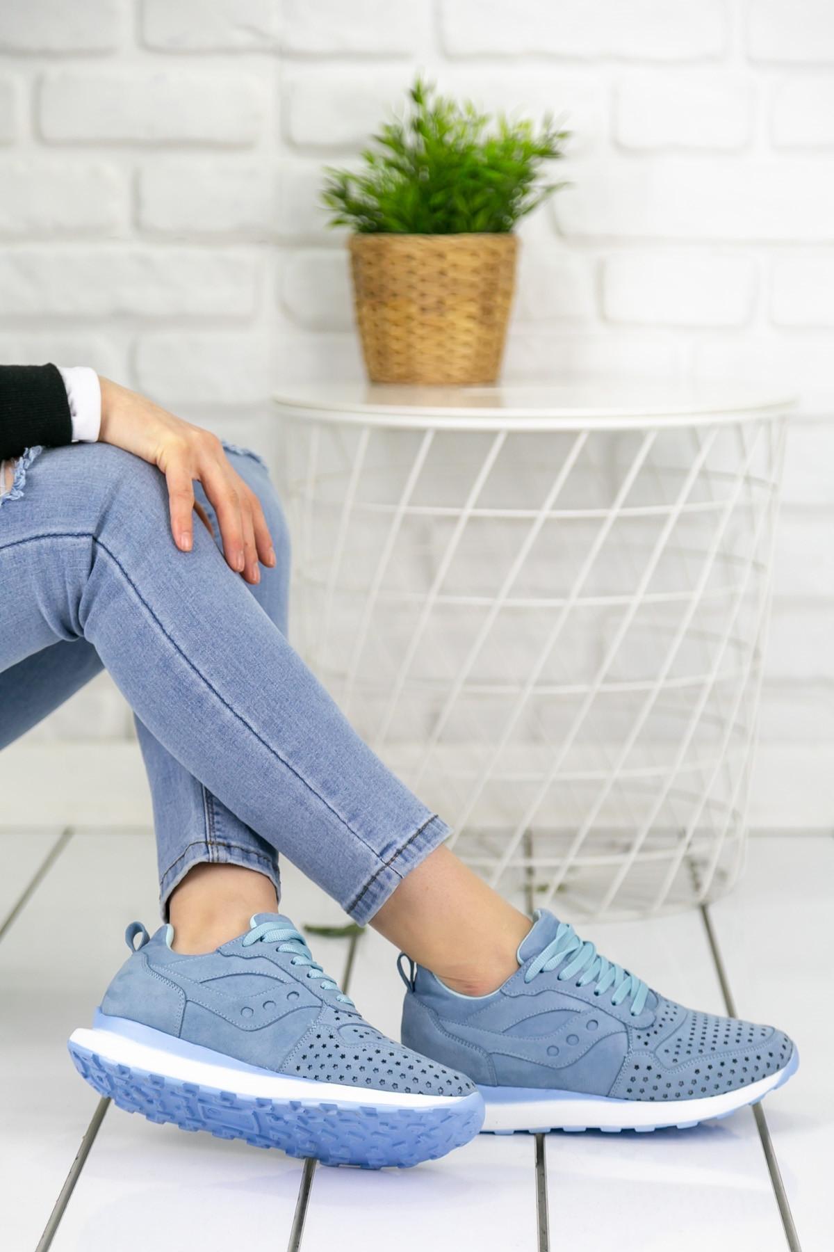 Disa Bebe Mavisi Ortopedik Bayan Spor Ayakkabı
