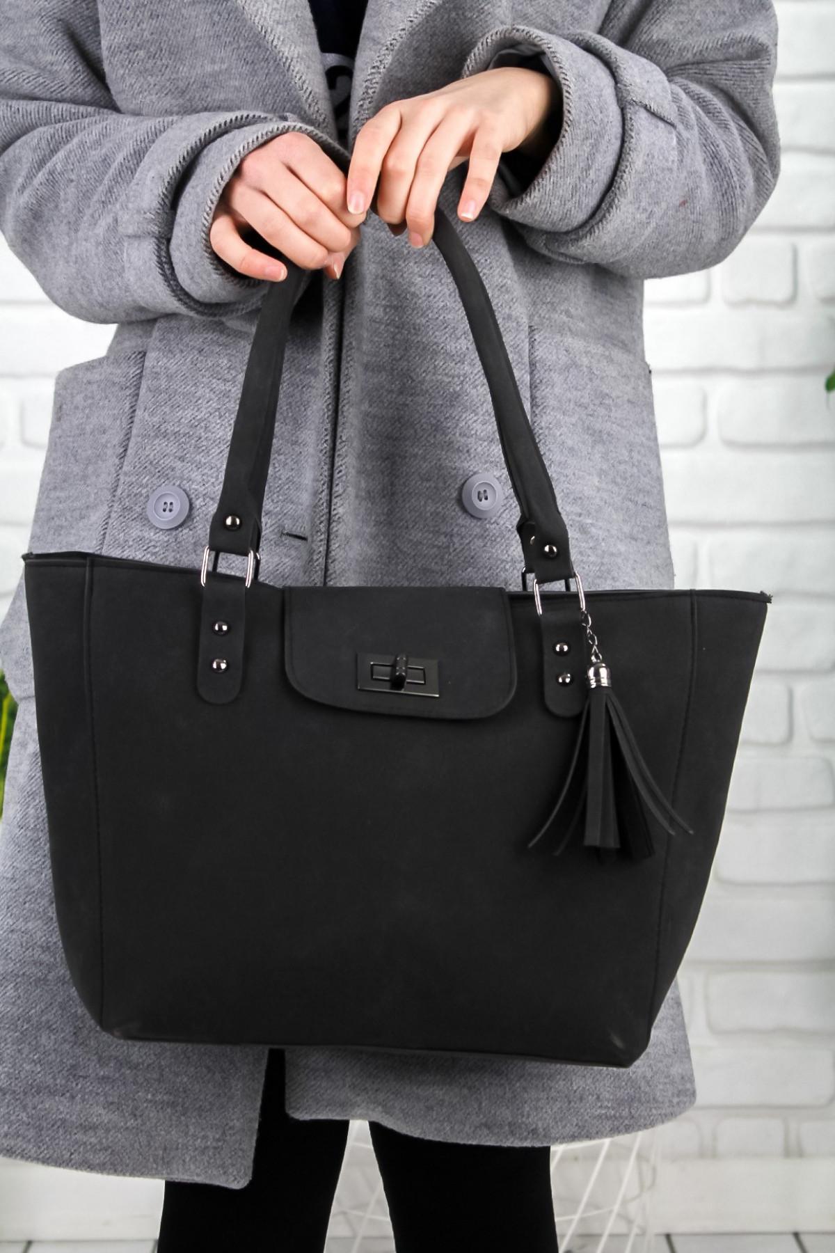 Lole Siyah Nubuk Çanta