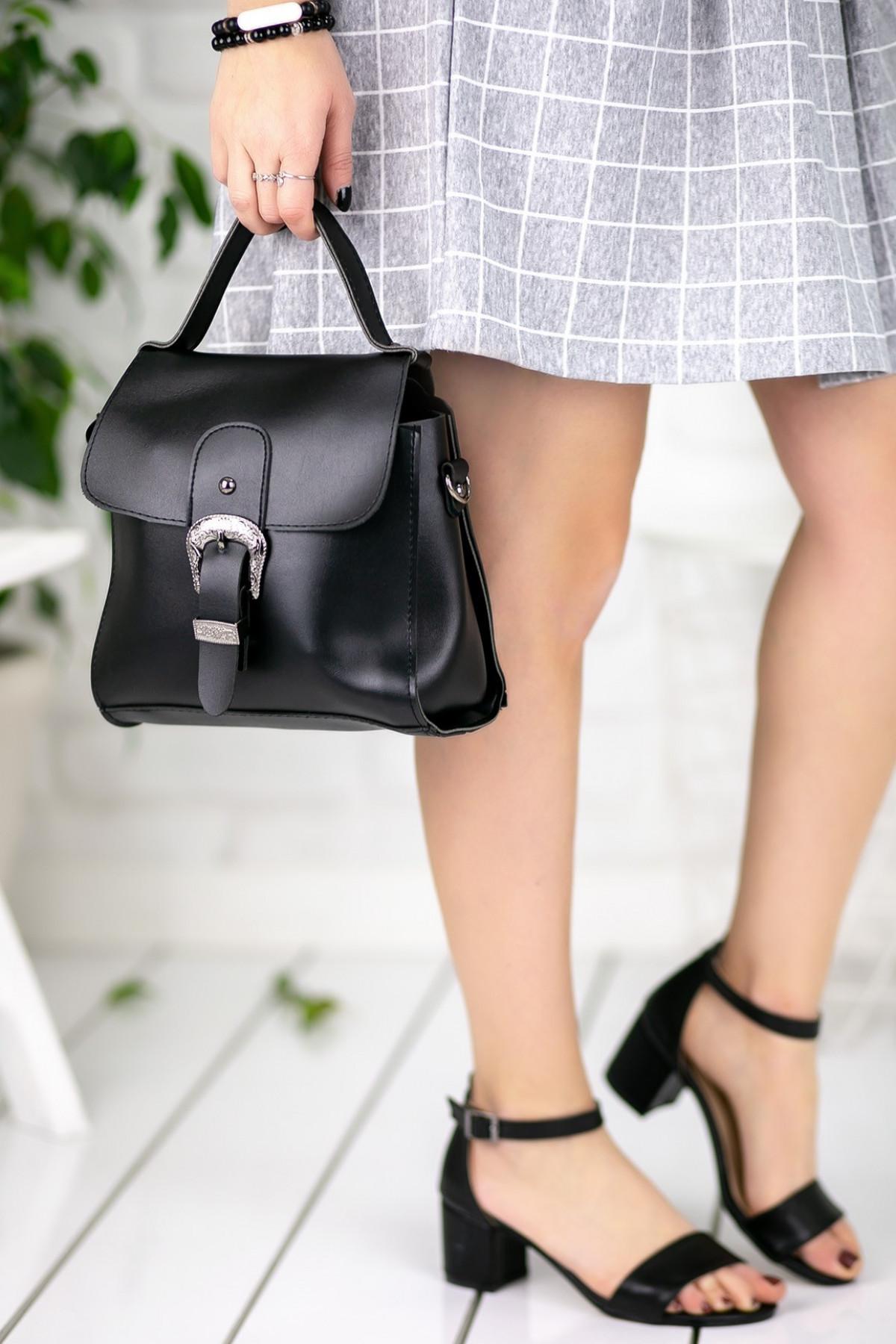 Marilda Siyah Kemerli Çanta
