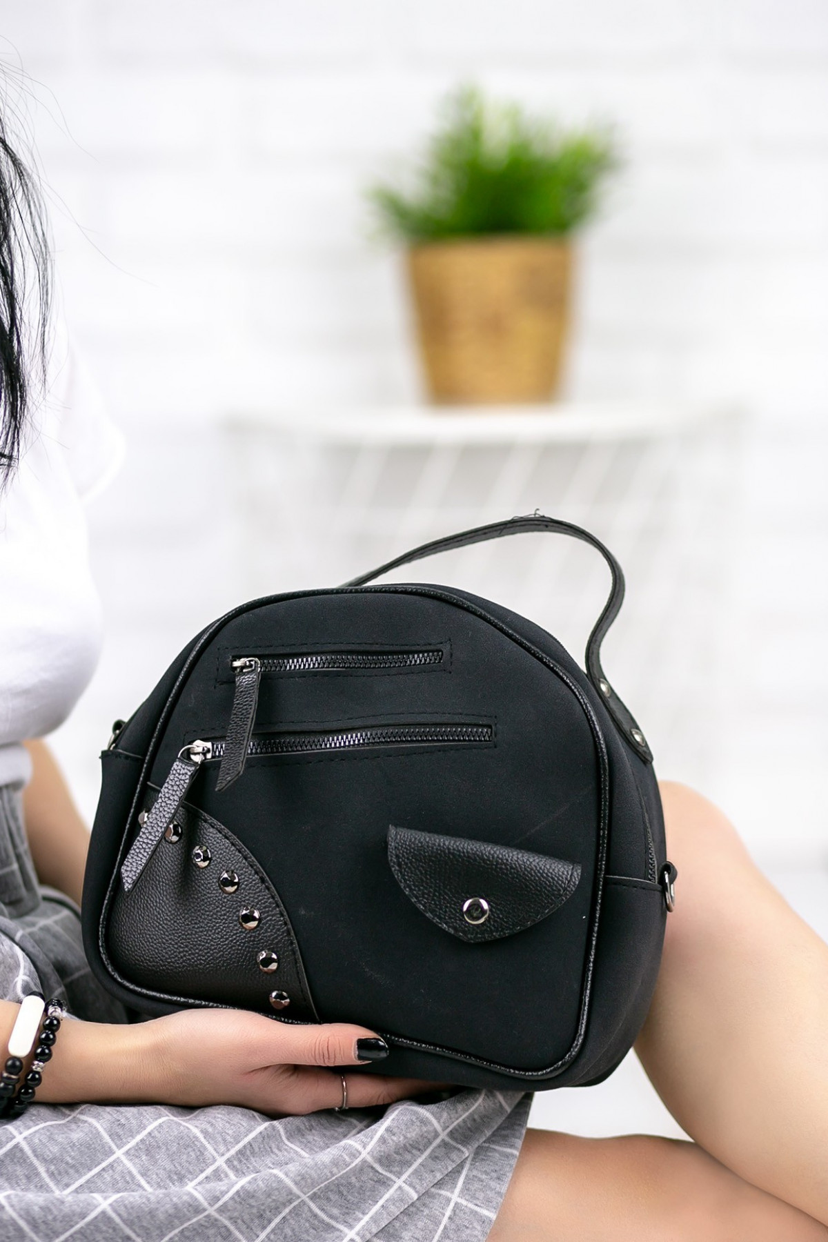 Marilda Siyah Taşlı Çanta