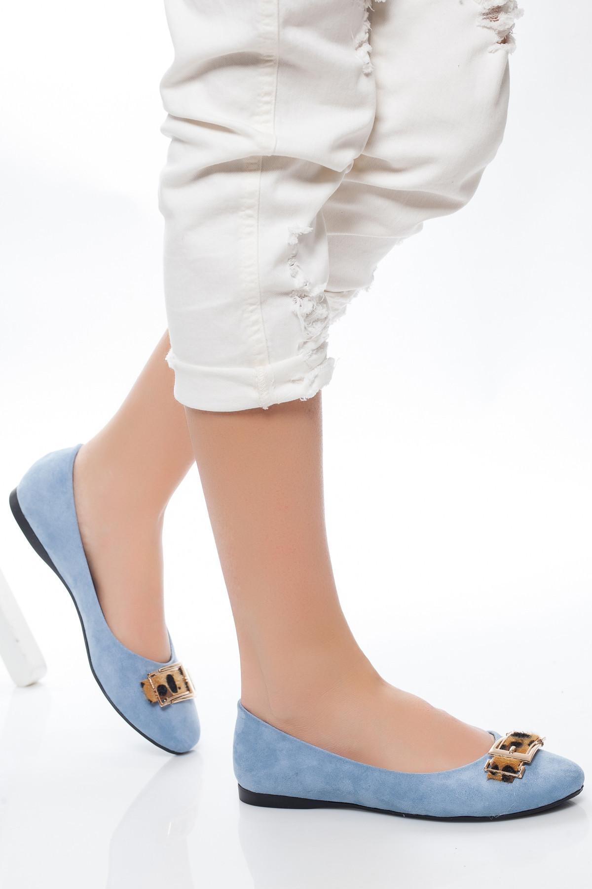 Mavi Leopar Tokalı Babet