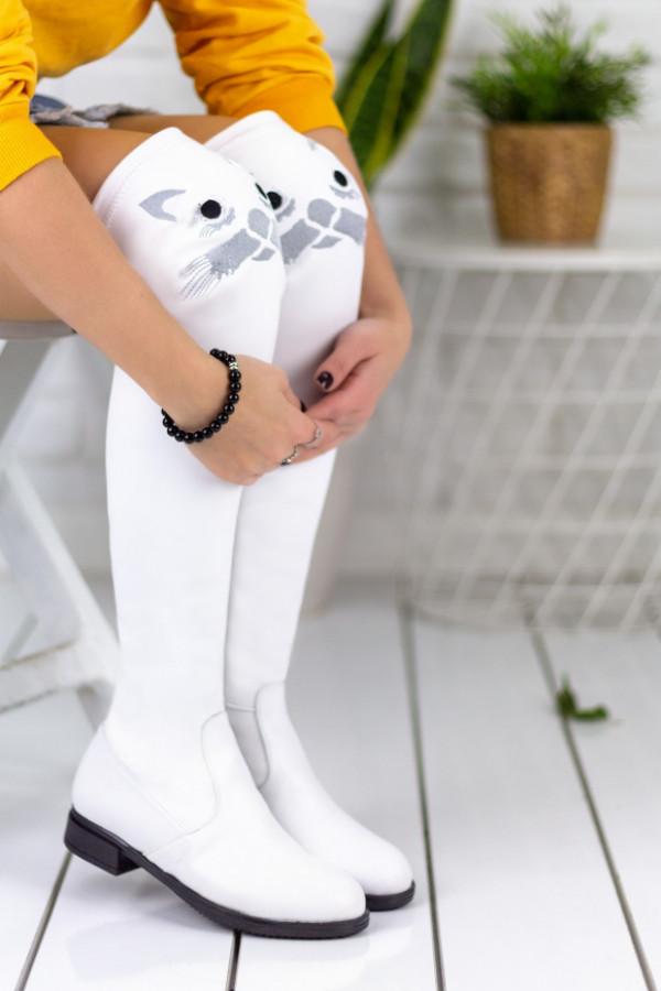 Geomar Beyaz Cilt Çorap Çizme