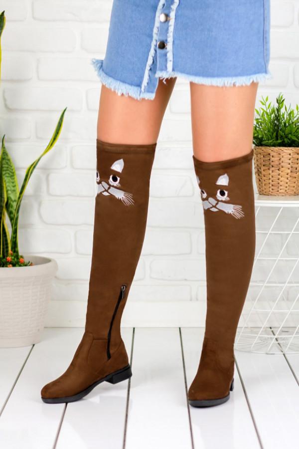 Geomar Taba Süet Çorap Çizme