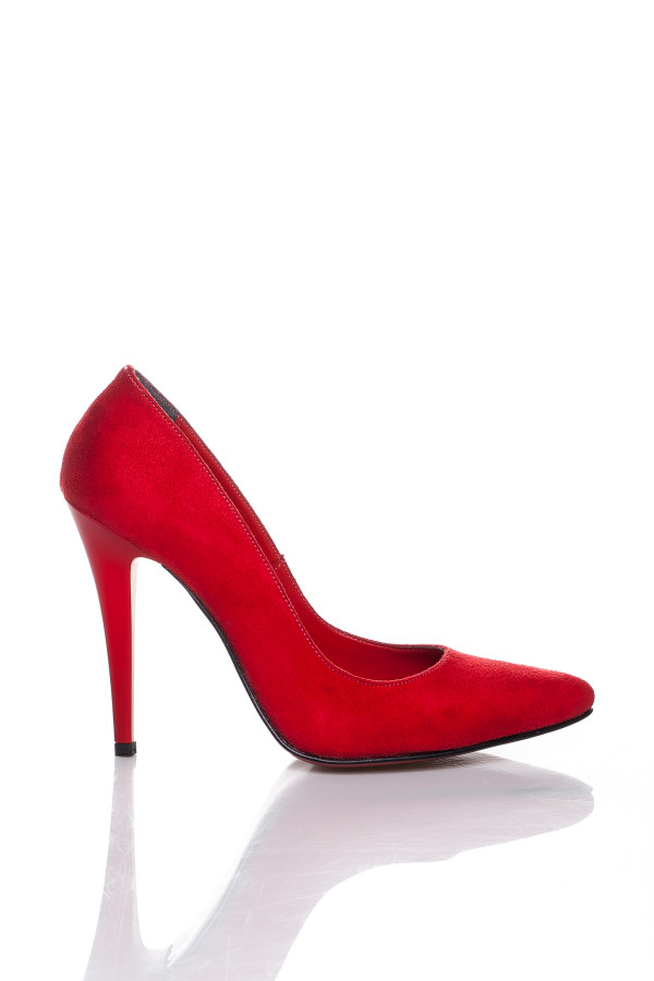 Kırmızı Süet Stiletto