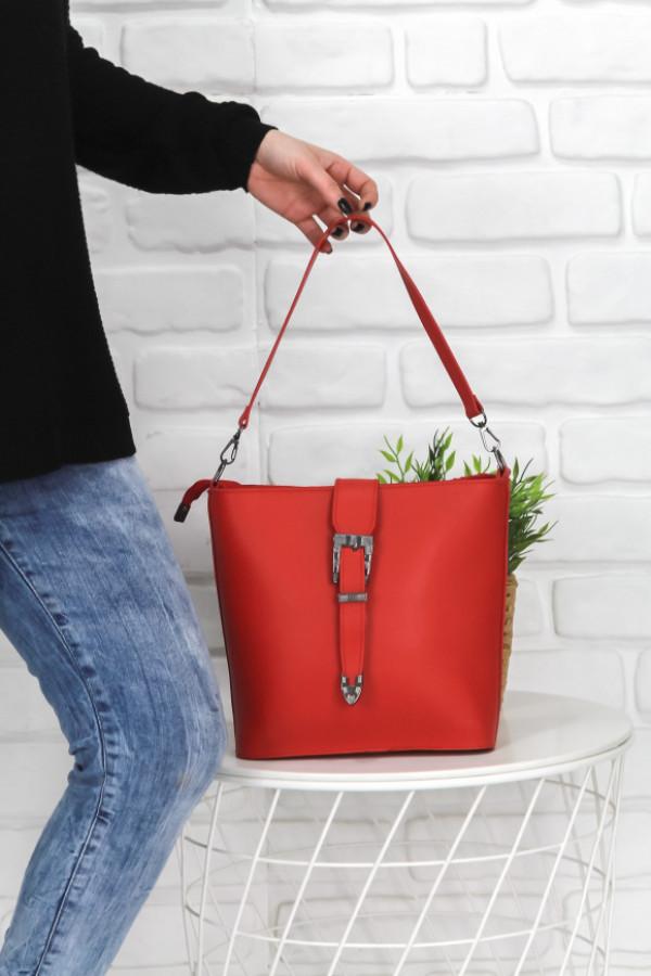 Onesta Kırmızı Kemerli Çanta