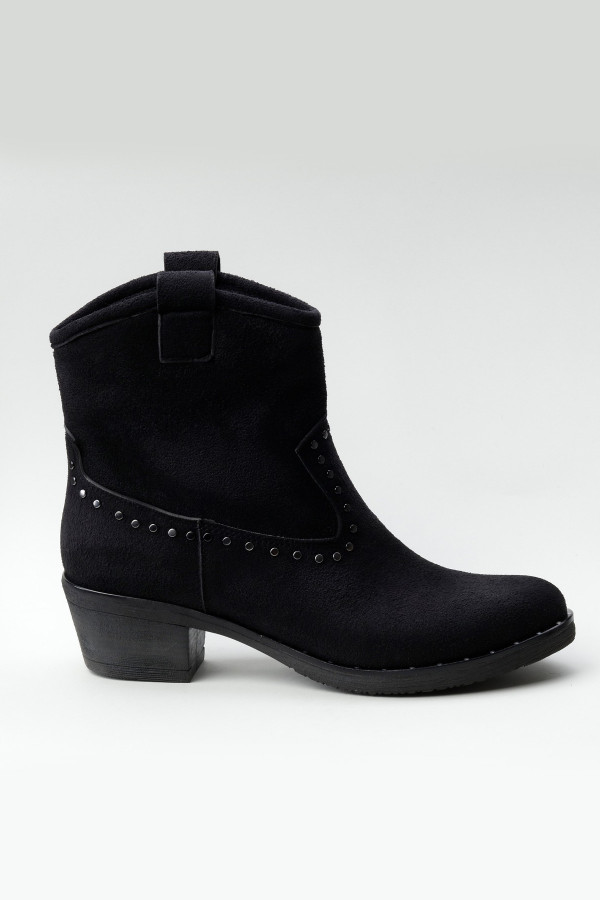 Siyah Western Kadın Kovboy Bot