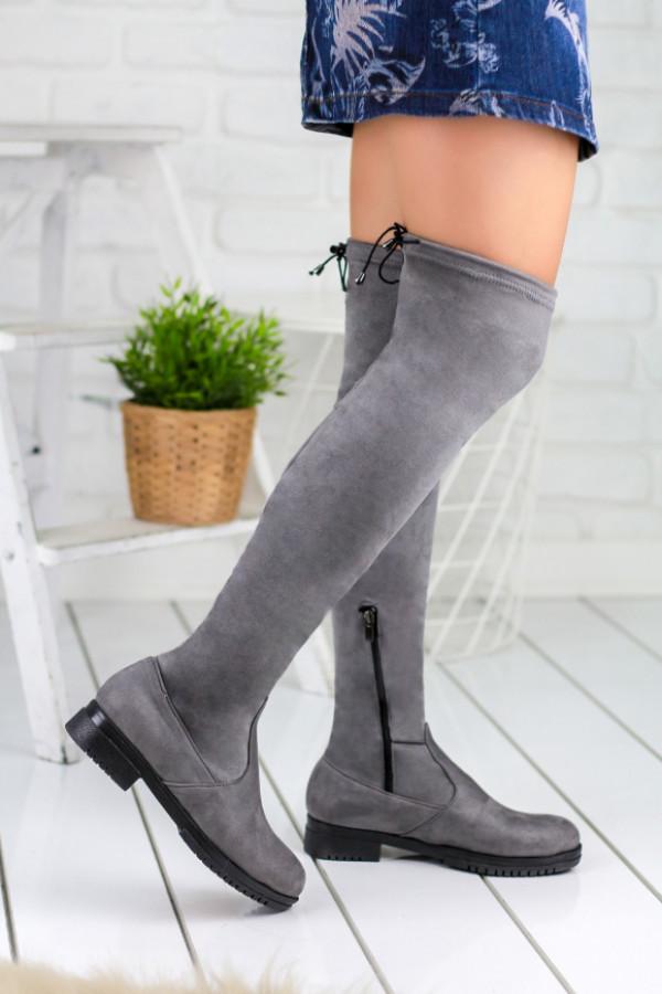 Vissia Gri Çorap Çizme