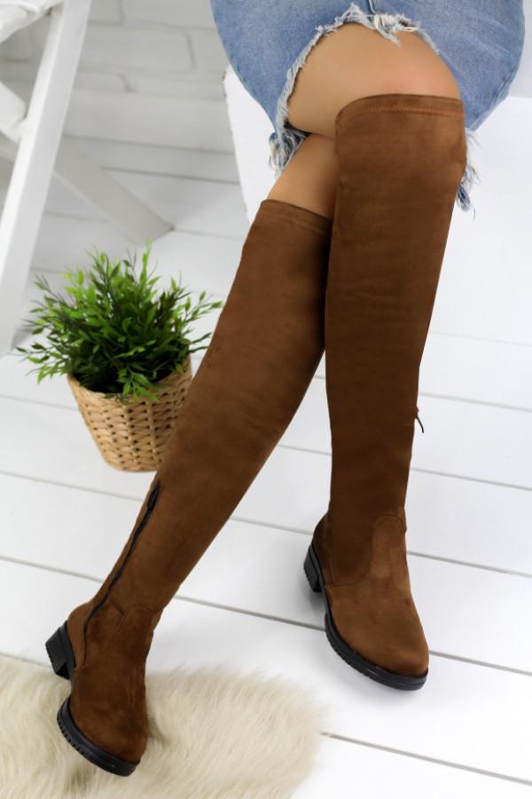 Vissia Taba Süet Çorap Çizme