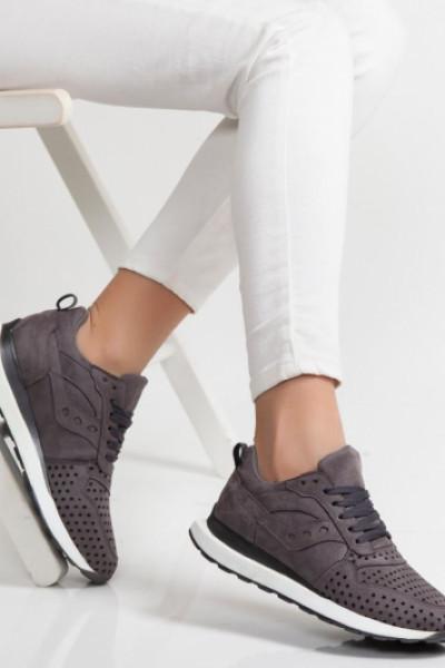 Disa Füme Ortopedik Bayan Spor Ayakkabı