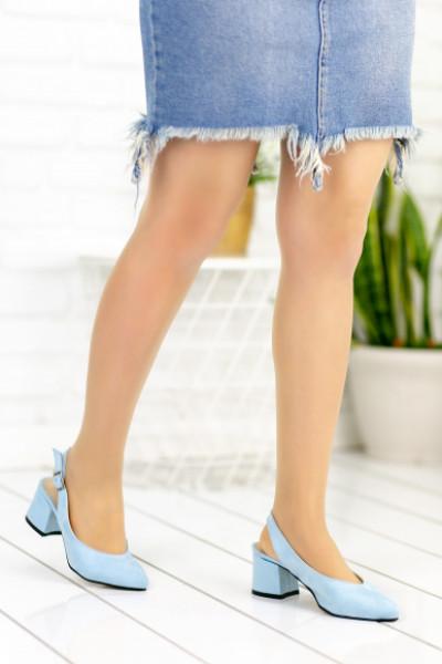 Duilio Bebe Mavisi Süet Topuklu Ayakkabı