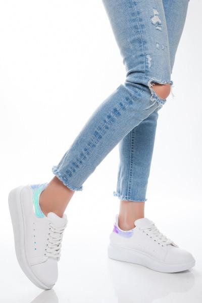 Gök Mavisi Hologramlı Kadın Spor Ayakkabı