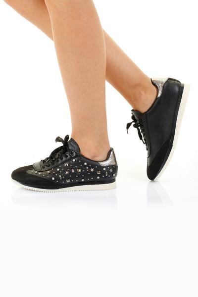 Catherine Siyah Ortopedik Bayan Spor Ayakkabı