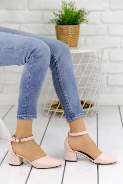 Zenobia Pudra Cilt Topuklu Ayakkabı