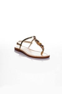 Altın Rengi Parmak Arası Sandalet