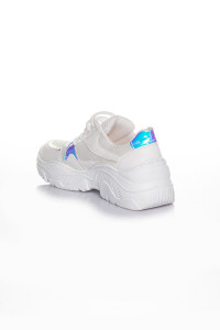 Anna Hologramlı Beyaz Kadın Spor Ayakkabı