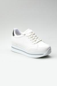 Sandy Beyaz Ortopedik Bayan Spor Ayakkabı