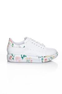 Çiçek Desenli Kadın Spor Ayakkabı