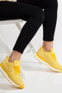 Disa Sarı Ortopedik Bayan Spor Ayakkabı