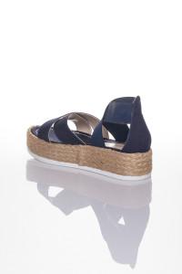 Lacivert Çapraz Bantlı Sandalet