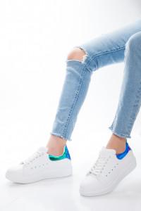 Mavi Yeşil Hologramlı Kadın Spor Ayakkabı