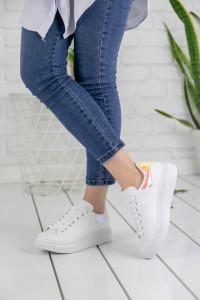 Pembe Sarı Hologramlı Bayan Ayakkabı
