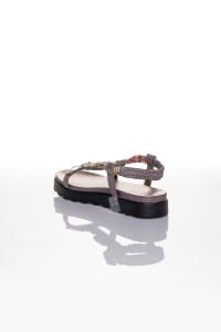 Platin Taşlı Sandalet