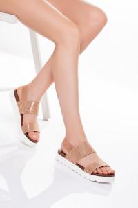 Pudra Bantlı Sandalet