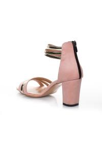 Pudra Süet Topuklu Ayakkabı