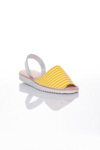 Sarı Beyaz Niki Niki Sandalet