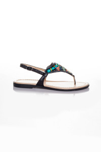 Siyah Parmak Arası Sandalet