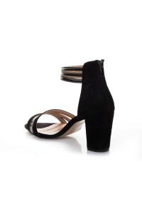 Siyah Süet Topuklu Ayakkabı