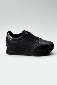 Sandy Siyah Ortopedik Bayan Spor Ayakkabı